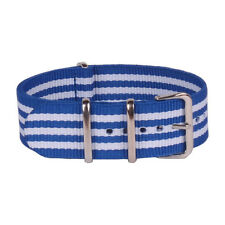 22mm NATO Multi Color White Blue Belts Unisex Nylon Watch Strap Wristwatch Band