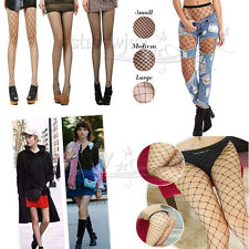 Sexy Womens Fishnet Hosiery Pantyhose Hollow out Tights Mesh Stockings Black UK