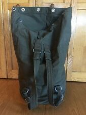 ORIGINAL German Military surplus TOP LOAD OD GREEN CANVAS Duffel bag W LATCH