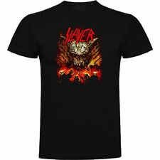T-SHIRT SLAYER THRASH METAL PUNK MUSIC ROCK TSHIRT SIL Msl011