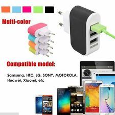 Phone Charger Wall Home AC LED Power Light 3-Port USB Charger Adapter