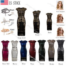 Retro 1920s Flapper Dress Gatsby Wedding Party Prom Dresses Roaring 20s Costume