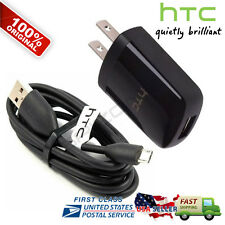 OEM Home Travel Wall Charger Micro USB Data Cable For HTC DESIRE EVO 4G HD7 M7