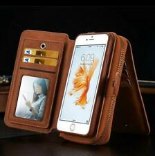 Genuine magnetic flip Leather Multi Purse Wallet Case cover for iPhone 7 6S Plus
