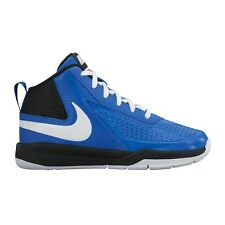 Nike Team Hustle D-7 (GS) BOY'S BASKETBALL SHOES, BLUE/WHITE - Size US 5, 6 Or 7