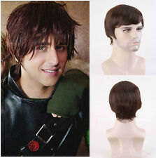 Men Fashion Short Straight Black brown wigs Adult Fancy Dress Cosplay Party Wigs