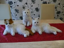 FURREAL FRIENDS LARGE GINGER & WHITE INTERACTIVE ALL WHITE LULU CAT RARE KITTY