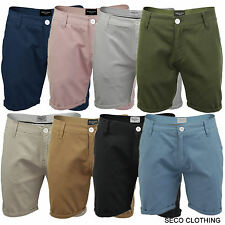 Mens Chino Shorts by Brave Soul 'Smith' Cotton Canvas Twill Roll Up S-XL