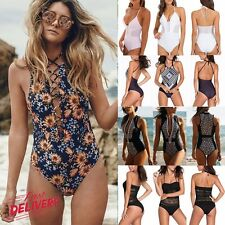 Womens Swimming Costume Sexy Swimsuit Monokini Swimwear Push Up Bikini Sets UK J