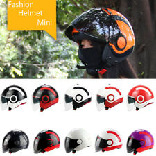 YOHE Motorcycle 3/4 Open Face Half Helmet With Full Face shield Visor DOT