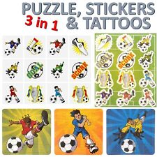 3 in 1 - PUZZLE, STICKERS & TATTOO SHEETS,Pinata Toy Loot/Party Bag Fillers
