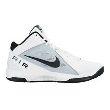 Nike Air Overplay IX MEN'S BASKETBALL SHOES,WHITE/BLACK-Size US 8.5,9, 9.5 Or 10