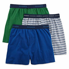 Hanes Boys Ultimate 3 pk ComfortFlex Knit Boxers Multi sizes M L XL NEW