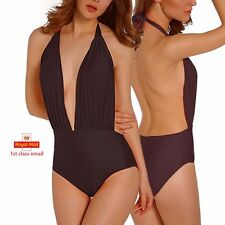 Womens Swimming Costume Padded High Waist Swimsuit Monokini Swimwear Bikini JF