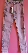 New Superdry Womens Standard Rise Super Skinny Jeans Floral Print RRP £49.99