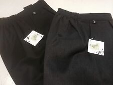 Boys Black & Grey SF Sturdy Fit School Trousers Age 10 to 13 (2Pairs)BNWT