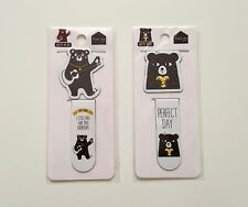 Tree In Art bear magnetic page marker paperclips paper clips set of 2