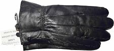 New Black Women's Leather Gloves, Casual Warm Winter Gloves Unbranded Gloves NWT