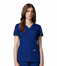 Greys Anatomy BCO 4153  Junior Fit  3 Pocket Mock Wrap Scrub Top chz color/size