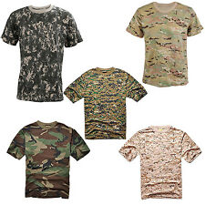 Camouflage T-shirt Men Breathable Army Combat Military Dry Sport Camo Tees F6S1