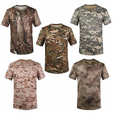 Hunting Camouflage T-shirt Men Breathable Army Combat T Shirt Tees T3D7