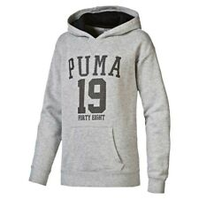 Puma GIRL'S STYLE ATHLETIC HOODIE Ribbed Cuffs, Soft Feel GREY - Size 8,10 Or 12