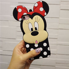 Lovely Cartoon Minnie Mouse Soft Silicone Case Cover For iPhone/Samsung/Huawei