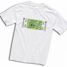 Swansea City Football Team Retro Subbuteo Style T-Shirt