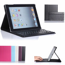 Bluetooth Wireless Keyboard With Stand Leather Case Cover for iPad Air