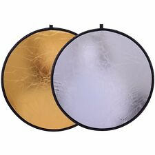 CY 30cm 2 in 1 Portable Collapsible Light Round Photography Reflector for Studio