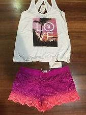 PLAYBOY SUNSET TANK AND CHEEKY PANTS SETS PINK NEW WITH TAGS SIZES 8,10,12,14