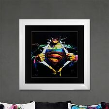 Superman Limited Edition Framed Liquid Artwork Signed with Limited Edition