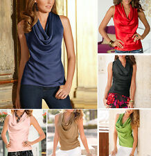 Sexy Women Summer Vest Top Sleeveless Solid Chiffon T-shirt Blouse Tops Clothes