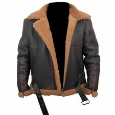 B3 Real Shearling Bomber Jacket Brown Leather Jacket