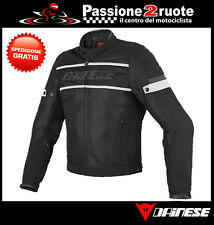 Motorcycle jacket estiva perforated Dainese Air-Frame Tex black white