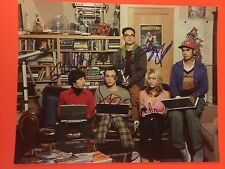"BIG BANG THEORY CAST X5 SIGNED 11"" X 14"" COLOR PHOTO - SEE PROOF- KALEY CUOCO +4"