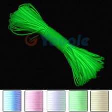 550 Luminous Glow in the Dark Paracord Parachute Cord-25FT 50FT 100FT