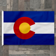 100% Cotton Stitched Design Colorado State Flag Banner Pennant Made in USA