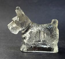 VINTAGE GLASS SCOTTY DOG CANDY CONTAINER / PAPER WEIGHT