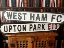 WEST HAM FC & UPTON PARK E13. Vintage Signs.Farewell Upton Park 2016. Shed Sign