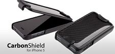 Ion Factory CarbonShield Carbon Fiber and Leather Case Cover for Iphone 5SE/5S/5