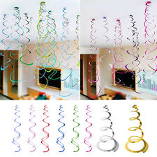 6PCS Baby Shower Birthday Wedding Party Supplies Hanging Swirl Decorations Hot