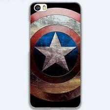 Captain America Marvel Hero Shield Hard Case Cover For iPhone Samsung Huawei