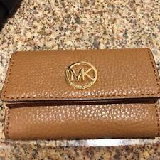 NWT NEW MICHAEL MICHAEL KORS FULTON PEBBLED LEATHER ZIP KEY POUCH/WALLET