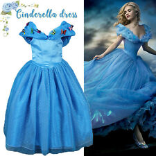 Cinderella Dress Outfit Costume Princess Fancy Dress Girls Easter Gift Age 3-8 Y