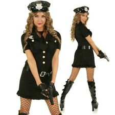 Cop Woman Police Officer Costume Hens Night Role Play Fancy Dress Party Outfit