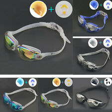 Outdoor Swimming Pool Silicone Waterproof Cap + Goggles + Nose Clip + Ear Plugs
