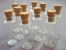 New Wholesale Lots 10/20 pcs 2ml Small Empty Clear Glass Bottles Vials With Cork