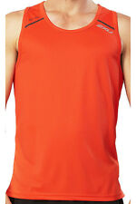 NEW 2XU TECH VENT MEN SPORT TOP  MEDIUM M TRAINING FITNESS SINGLET ORANGE