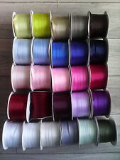 100 metres - 10mm Wide Double Sided(faced) Satin Ribbon - Choose Colour.